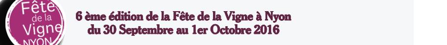 Fête de la Vigne | Nyon les 2 et 3 octobre 2015 – Place du Château